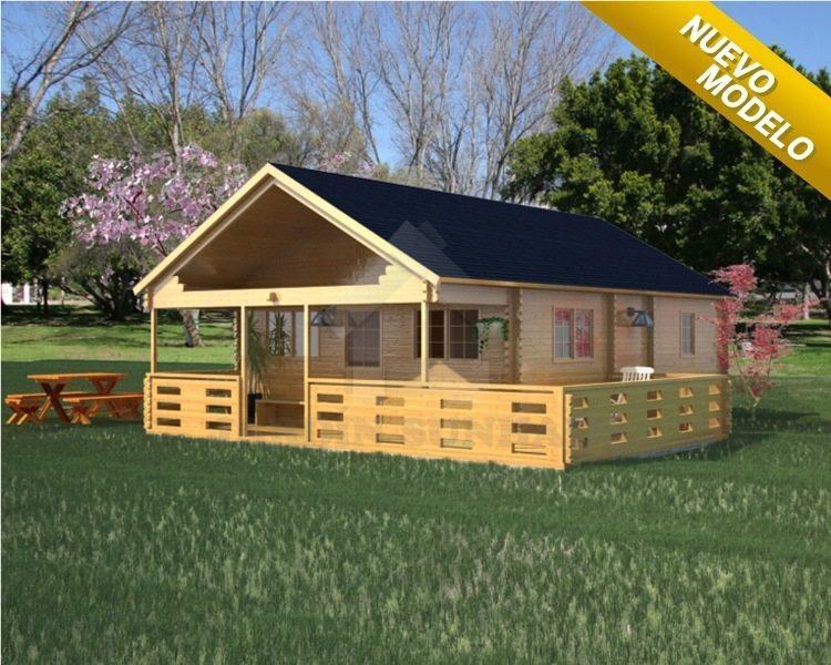 Casas prefabricadas en madera distribuimos en todo el for Precios de cabanas prefabricadas
