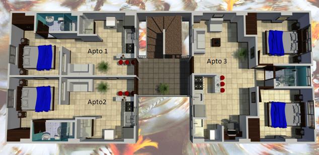 Sobre planos lanzamiento vendo lindos apartamento 2 for Plano habitacion online