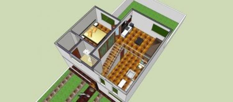 Vendo casa minimalista 92 m2 construccion doble altura for Construcciones minimalistas fotos