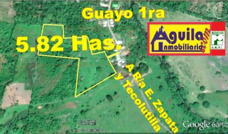 Foto aguilainmobiliaria.com VENDE 5.82 Has. A 10 MINUTOS DE CD. TECOLUTILLA