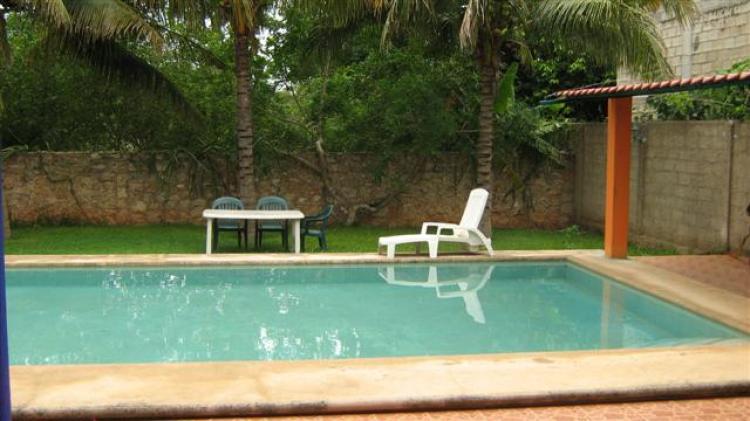 En merida casa amueblada de 3 habitaciones con piscina en for Casa con piscina para alquilar