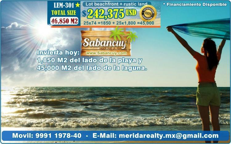 Lotes En Playas Virgenes Entre Isla Aguada Y Sabancuy: Lotes Terrenos En La Playa, 25 Metros Lineales, Pague