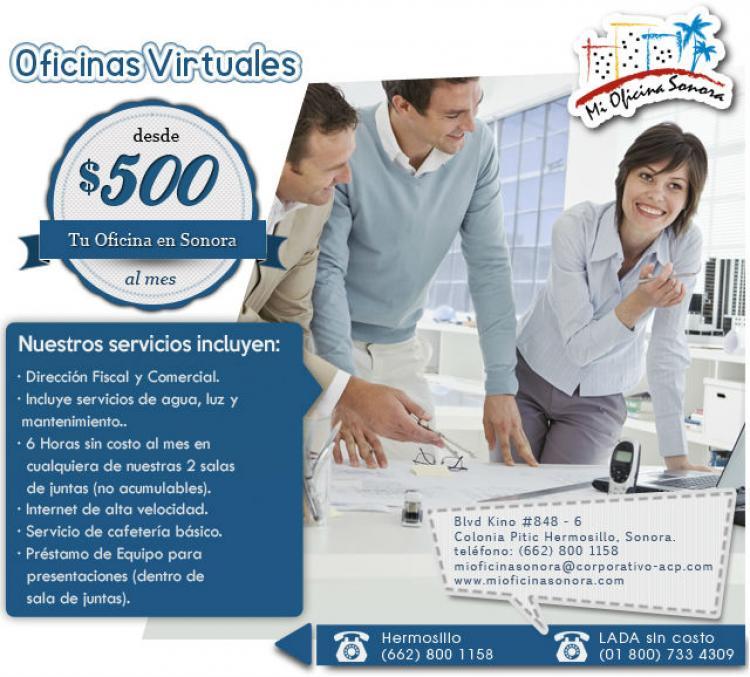 Oficinas virtuales a partir de 500 mxn hermosillo for Descripcion de una oficina