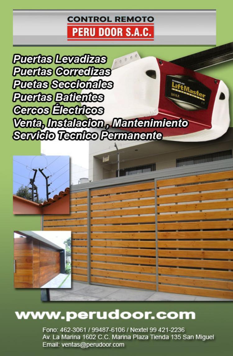 Mantenimiento de puertas levadizas seccionales de garaje for Precio de puertas levadizas en lima peru
