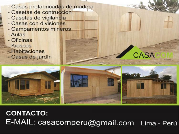 Fotos de venta de casas prefabricadas en lima peru anuncio cav19249 - Habitaciones de madera prefabricadas ...