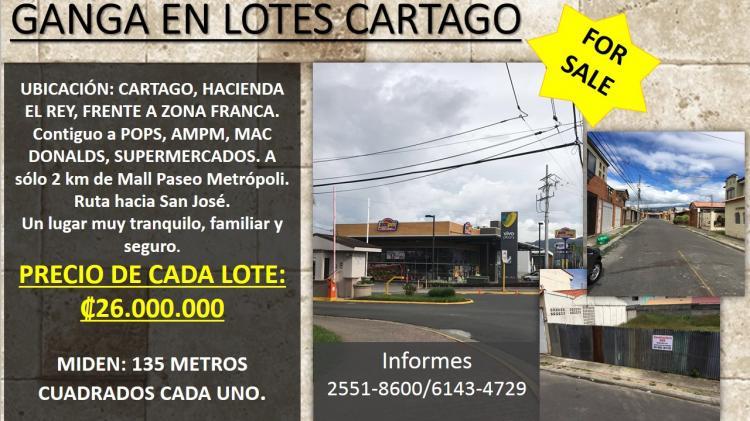 Foto Terreno en Venta en Hacienda el Rey, Guadalupe, Cartago - ¢ 26.000.000 - TEV13310 - BienesOnLine