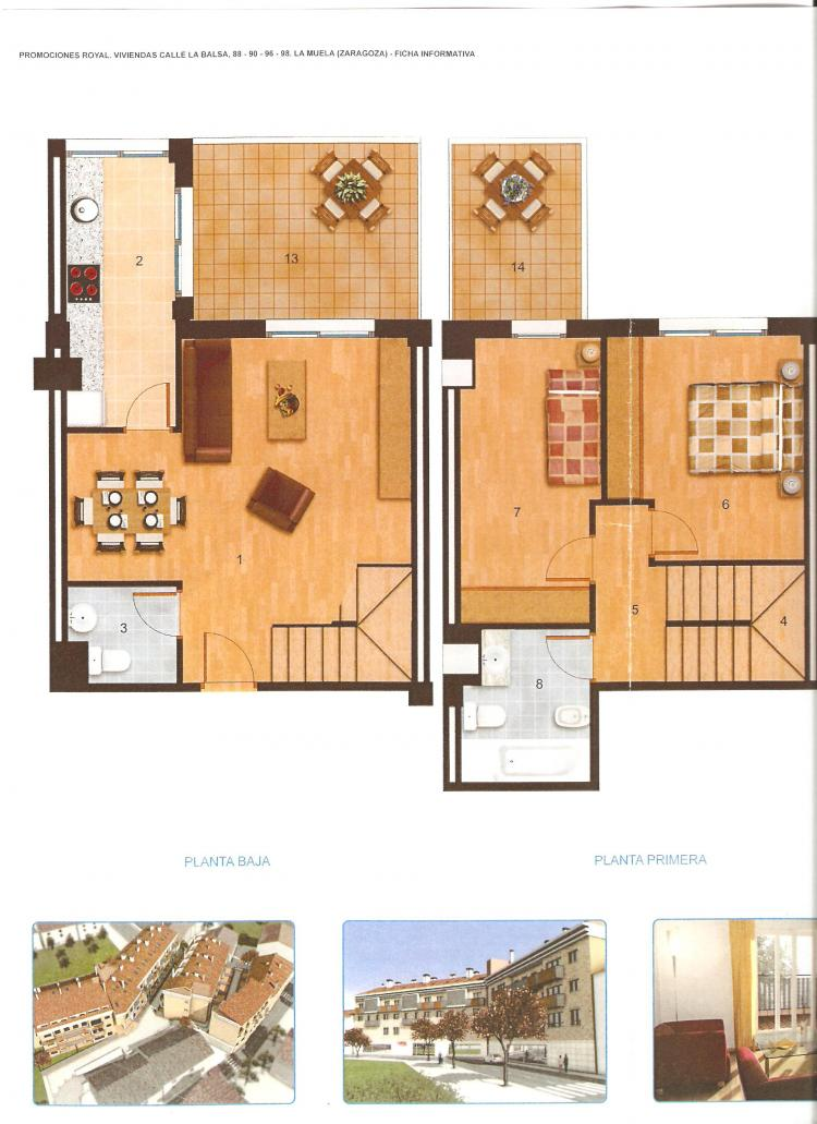 Duplex en alquiler en la muela 2 habitaciones 350 dua4258 - Duplex en zaragoza ...