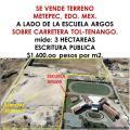 Terreno en Venta en SAN MIGUEL TOTOCUITLAPILCO Metepec
