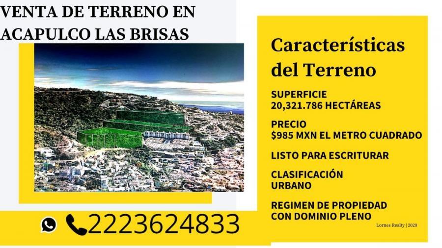 Foto Terreno en Venta en las brisas, Acapulco de Ju�rez, Guerrero - 20321 hectareas - $ 200.168.745 - TEV276164 - BienesOnLine