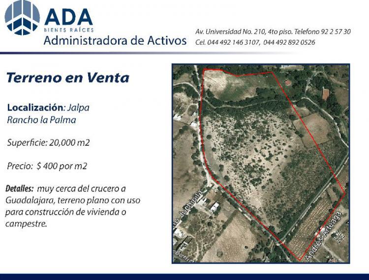 Jalpa Zacatecas Mexico Map.Predio En Venta En Jalpa Tev80285