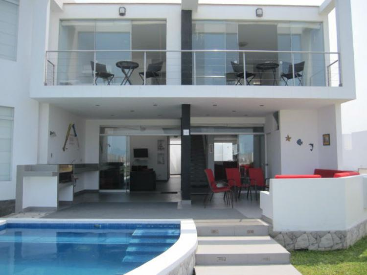 Casa De Playa Espectacular 1ra Fila Piscina Bbq Terrazas