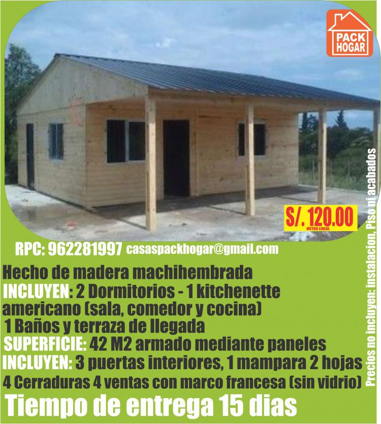 Casas De Campo Cabañas Bungalows Modelos Diseños En Cañete